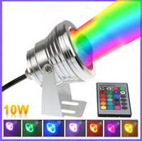 Wholesale 10W RGB Floodlight Underwater LED Flood Lights Swimming Pool Outdoor Waterproof Round DC V Convex Lens led light Sample