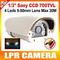 Wholesale 8 Inch TVL mm Lens Highway CCTV Vehicles License Plate Recognition LPR Camera With Array White Light LEDs OSD Menu Waterproof