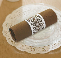 Wholesale Hot sale laser cut filigree paper napkin rings for wedding Birthday Party decoration from Red Leaves