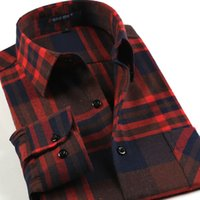 Wholesale The new mill MAO grid long sleeve shirts Autumn fashion men s shirts The classic version of quality leisure Brand men s clothing