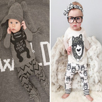 zebra print - 2016 ins baby boy Little monster Cartoon two piece outfits set long Sleeve Short sleeve Printed Tshirt long Pant Kids clothing monster Pajam