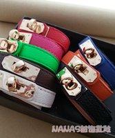 Wholesale Silver Alloy Vintage Punk Rock Leather PU Bracelet Bangles