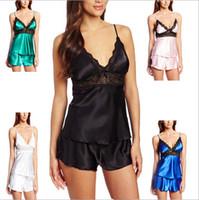 Wholesale Sexy Plus Size sleepwear female Chemises Lingerie Sets Chinese Silk Big Size night robe women pajama set XL XXL XXXL XL