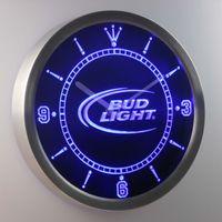 al por mayor lámpara de pared de cerveza-nc0470 Bud Light LUMINOVA la señal de neón barra al por mayor de la cerveza del reloj de pared de la decoración LED Dropshipping de envío libre