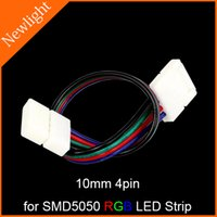 lead free solder wire - Free Welding LED Strip Connectors Wire mm pin two ends for SMD RGB LED Strip Light without soldering