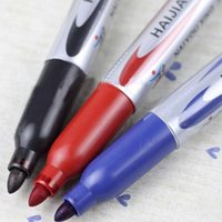 Wholesale Single Head marker Indelible marker Oily Signature pen for Writing student Finance art colors Office Pen Drawing Pens Supplies