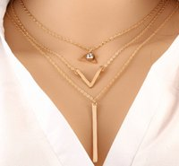 american power metal - Summer Simple Pendant Necklace Newest Luxury Women s Necklace Jewelry Multilayered Metal Pendant Necklace Trend Necklace