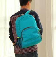 Wholesale 1piece The portable Zipper Soild Nylon Daily Traveling Backpacks Shoulder bags Folding bag