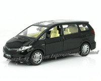 Wholesale 1 Alloy Diecast Metal Car Model For TOYOTA PREVIA Collection Pull Back Toys Car With Sound Light Black White