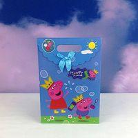 Cheap 60 Pcs lot PeppaPig Gift Bag Party Supplies PeppaPigTote Bag Birthday Party Candy Bag Paper Gift Bag Handbag
