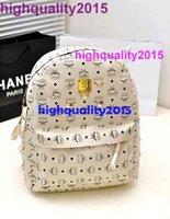 Wholesale highquality2015 Brand Fashion exo m Men Women Backpack Rivet backpack