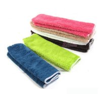 Wholesale Anti greasy multi color magic bamboo fiber washing dish cleaning cloth scouring pad towel kitchen cleaning wipes rag pc