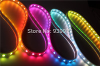 Wholesale 5 Meters Individually Addressable Color WS2812B Waterproof SMD RGB WS2811 LED Strip White PCB LEDs M DC V