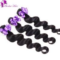 Meilleur péruvien perruque cheveux humains péruvienne Body Wave 3 Bundles 5A naturel couleur # 1B extensions de cheveux en ligne péruvienne cheveux UK