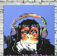 contemporary oil paintings - Asian Contemporary art Oil Painting monkey on huge canvas NO frame wall decor