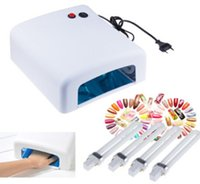 uv lamp - Professional W Nail Art Dryer Gel Curing UV Lamp Nail Dryer with W UV Bulbs EU Plug