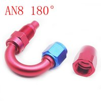 Wholesale RS MTX AN8 Swivel Fuel Oil FUEL GAS LIN Hose End Fitting Adaptor Straight Degree Red Push On GAS LINE HOSE END