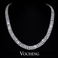 Wholesale Crystal Fine Jewelry Simple Design chunky necklace Cubic Zirconia Austrian Vn Vocheng Jewelry
