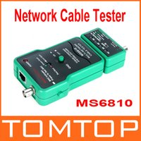 Wholesale Multi Network Cable Tester Meter RJ45 BNC Tests for Coaxial Cable MASTECH MS6810 freeshipping dropshipping