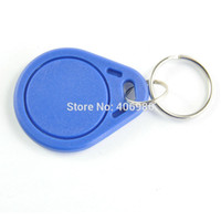Wholesale 20pcs RFID MHz Token Tag IC Key Tag Keyfobs Token Ring Cards Re writable for ArduinoBlue Color NFC TAG FZ0411
