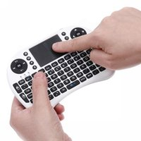 Wholesale Wireless Keyboard Rii Mini i8 Air Mouse Multi Media Remote Control Touchpad Handheld for TV BOX Android Smart TV Box HTPC Mini PC
