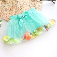 age cake - 2 Age Baby Girls Skirts New Summer Lace Petal Tulle Saias Tutu Skirt Little Girl Pettiskirt Bow Ball Gown Cake Skirt Kids