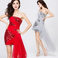 Cheap 2015 Sequin Short Party Dresses for Women Sheath Column Strapless Gowns With Sleeveless Strapless Sexy Elegant Party Prom Dresses Under 50