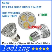 Wholesale High power CREE GU10 E27 GU5 LED W Light lamp Bulb LED Downlight Warm Cool White