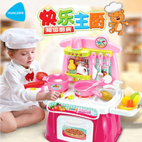 Wholesale Creative Pretend Play Kitchen Toy Set Birthday Gifts For Kids Super Cool Play Kitchen Cooking Set RED