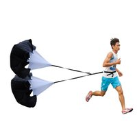 athletic speed training - Double parachute Athletics Football Training explosive core strength against resistance endurance running speed umbrella
