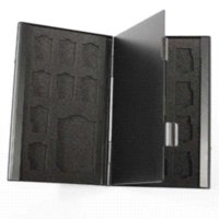 aluminum box trailer - BLACK Aluminum box Portable in memory card case SD microSD TF Card Cases aluminium box trailers