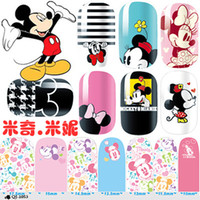 HY beauty series - Hot Sale Women Beauty Nail Art Nail Art Stickers QJ Mickey Minnie series of all posted green nail polish nail sticker decals