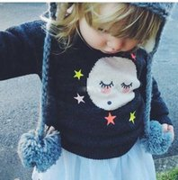 Wholesale Girls Childrens Sweater New Autumn Winter Bow Pullover Hot Sell Fashion Long Sleeve Sweater Coat Outerwear ZZ