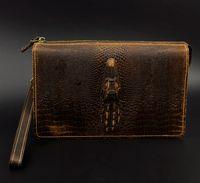 achat en gros de véritable crocodile sacs à main en cuir-Crocodile Authentique en cuir Hommes Hommes Embrayé Porte-monnaie Porte-monnaie Porte-monnaie Porte-monnaie Porte-