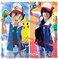 ash ketchum costumes - Pokemon Ash Ketchum Trainer Costume Cosplay Jacket gloves hat