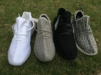 Cheap DHL Free Shipping Originals 2016 Kanye Yeezy Boost 350 Moonrock Black Grey White