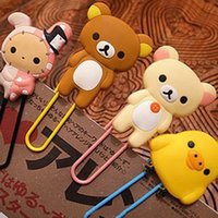 Wholesale Super cute easily bear chicken Youyou rabbit bookmark folder queen paperclip SHYP0563