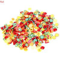 fruit slice - New pack Nail Art Stickers D Fruit Animal Flower Tiny Fimo Slices Polymer Clay DIY Sticker Nails Decoration Colorful Hot SV026734