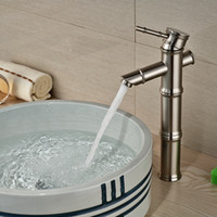bamboo bathrooms - And Retail Brushed Nickel Bathroom Faucet Bamboo Style Sinlge Handle Hole Vessel Sink Mixer Tap Deck Mounted