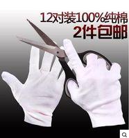 cotton gloves white - Gloves Labor white cotton work gloves ritual performances disposable disc beads