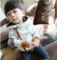 baby boy wool coat - Winter Small Baby Clothes Thicken Add Wool Hoodies Coat Inclined Zipper Kids Boy Girl Cotton Coat Children Hoody Retail Sale WD465