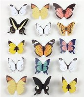Wholesale Creative gift Jiezhuang Butterfly Stickers home accessories bedroom wall TV background stickers