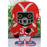bear gps - 3 inch HOT American football gridder Iron On Patches red bear Made of Cloth Guaranteed Quality Appliques sew on patch GP