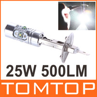 Wholesale H1 W High Power Ultra Bright CREE LED Car Foglamp Fog Light Lamp LM White Vehicle Lighting Bulb