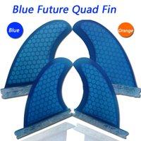 Wholesale per set future black glassfiber surfboard honeycomb surf fins