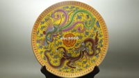 ceramics and pottery - New Fine Old China porcelain painted Ceramic large plates Porcelain Pottery Dragon and phoenix Collectible Porcelain