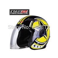 Wholesale 2016 New LS2 OF501 safety motorcycle helmet Rain electric bicycle half face Motorbike helmets Winter warmer winters size L XL