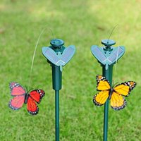 Wholesale Popular Simulation Flying Butterflies Solar Butterfly LED Kids Toys Women Gifts