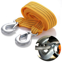 auto recovery - 3M Tons Car Truck Auto Tow Cable Towing Strap Rope With Hooks Road Recovery Emergency String