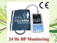 Wholesale CE hours Color LCD Ambulatory Blood Press Monitor Holter ABPM With free cuffs warranty